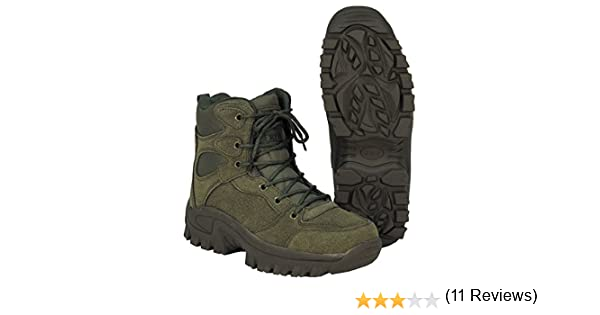 MFH Botas Comando, Botas, Zapato de Trekking, Tobillo Alto, Zapato ...