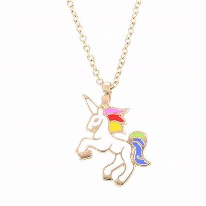 Amazon.com: REGOU - Collar de unicornio con diseño de ...