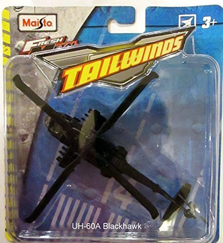 Maisto Fresh Metal Tailwinds Black UH-60A Blackhawk Helicopter Type 1