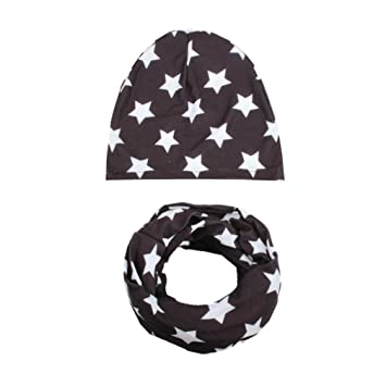 3f1c5f16586 Amazon.com   Inkach Toddler Baby Boy Girl Slouchy Beanie Hats Kids Winter  Warm Caps with Scarf Collars (B)   Baby