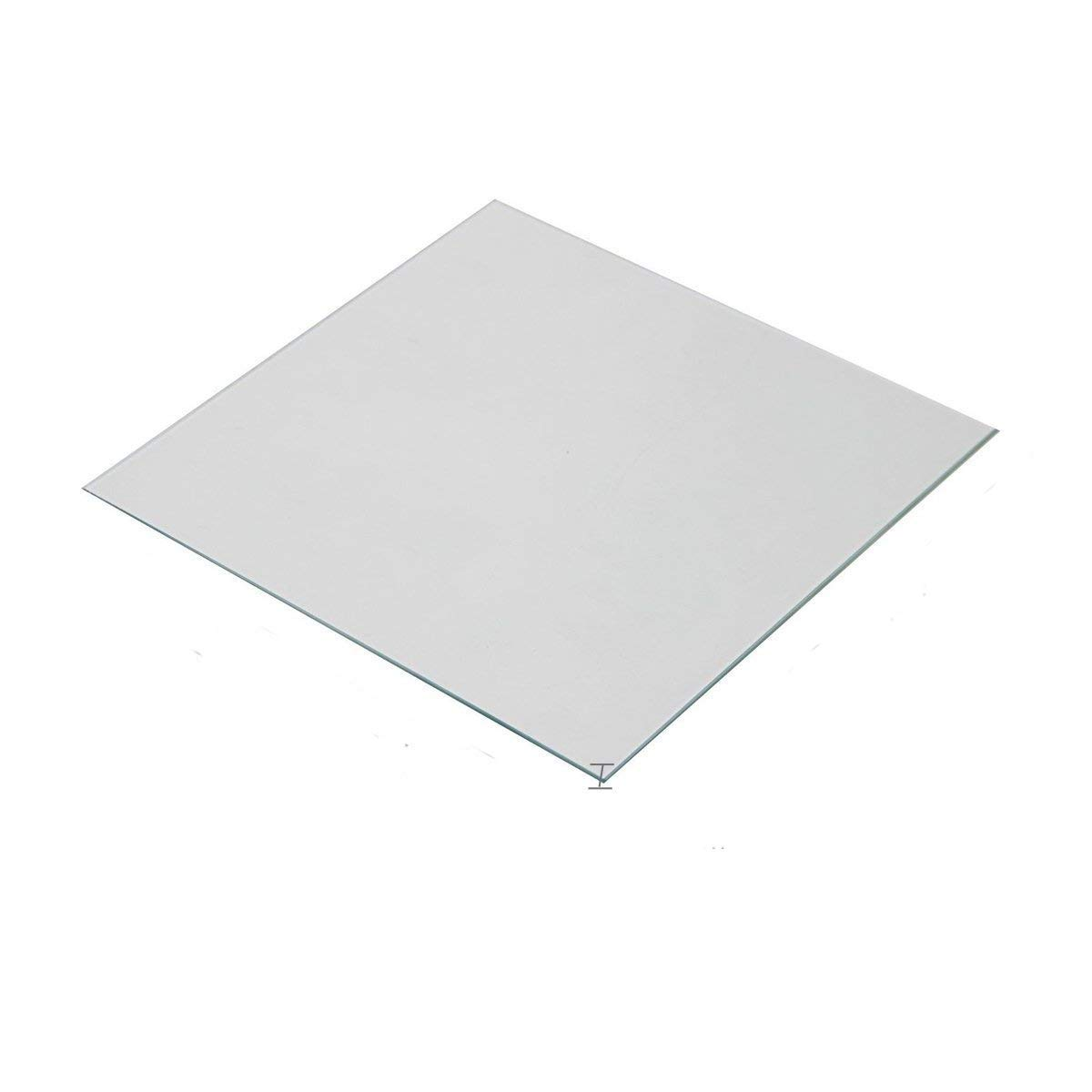 Wisamic Clear Borosilicate Glass Heat Bed 200x200x3mm for 3D Printers Prusa, Monoprice Maker Select V2, Monoprice Maker Select Plus, etc