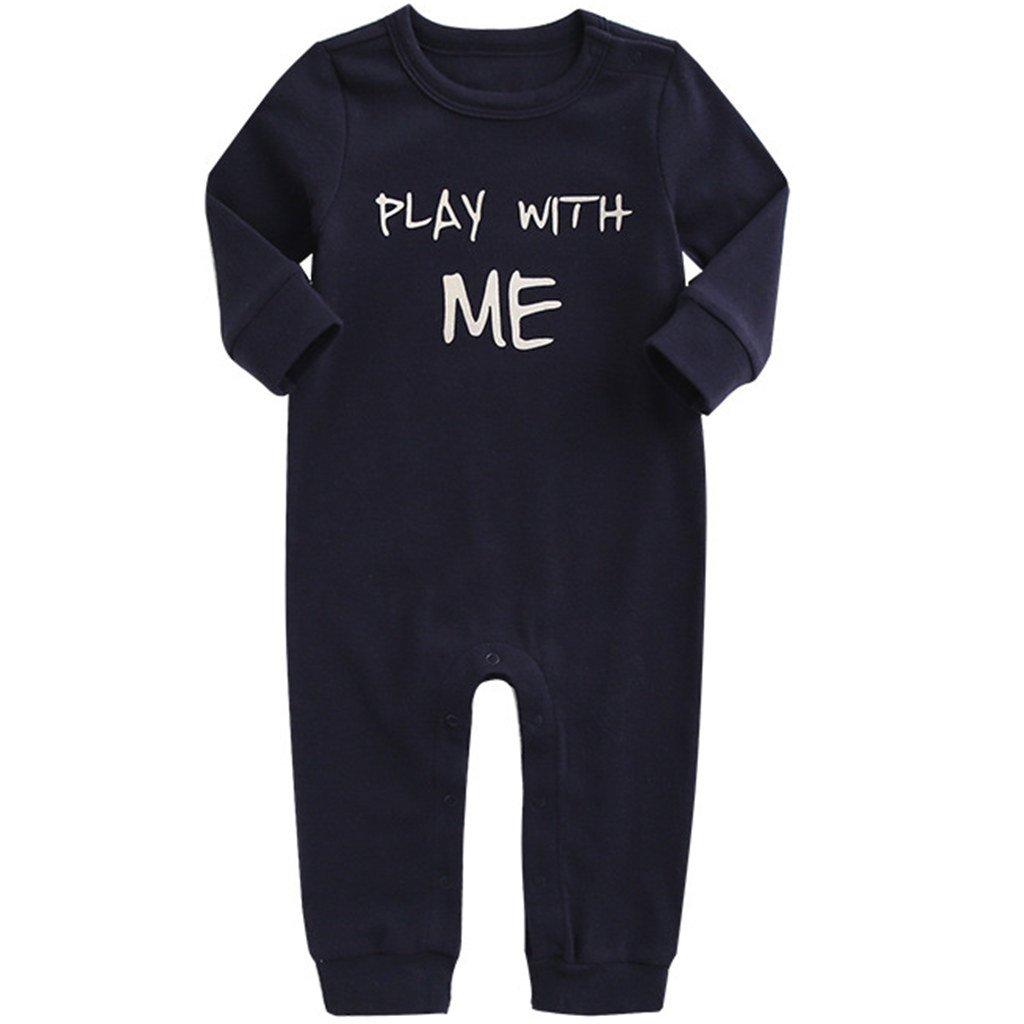Vine Pijama para Bebé Peleles Algodón Mameluco Niños Niñas Body Manga Larga Trajes de Niños: Amazon.es: Bebé