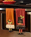 The Lakeside Collection Set of 2 Novelty Harvest Kitchen Towels -