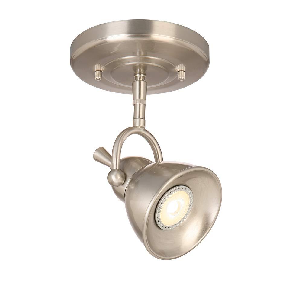 Design house 578021 pierce single light led directional ceiling light satin chrome