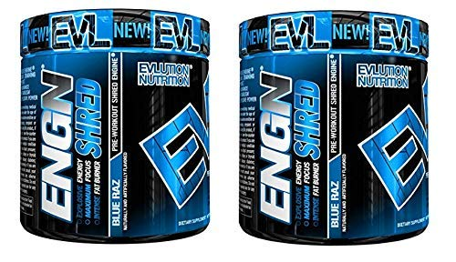 Evlution Nutrition ENGN Shred Pre Workout Thermogenic Fat Burner Powder, Energy, Weight Loss (Blue Raz) (60 Servings) by Evlution (Image #2)