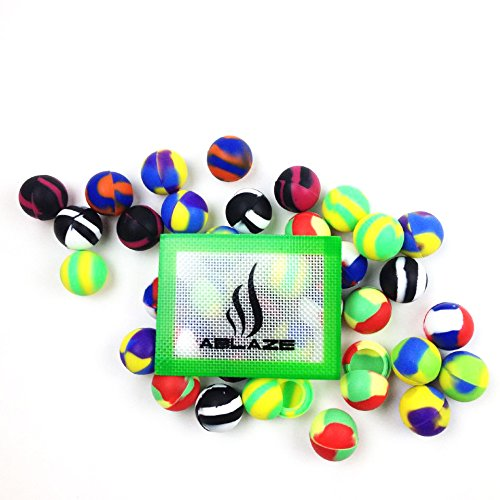 ABLAZE 50 Pcs Silicone Ball Wax Container Bulk Shatter Concentrate Nonstick Non Stick Jar 5ml by Ablaze (Image #1)