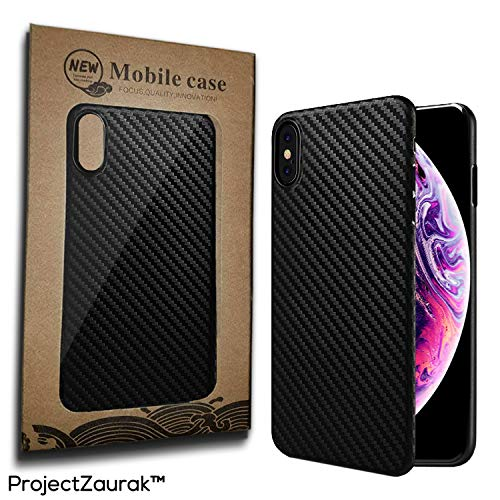 Carbon Fiber Case For iPhone X and XS by Project Zaurak - Ultra Thin Slim Case Cover For Apple 5.8