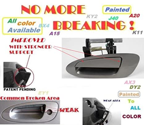 For NISSAN ALTIMA Outside Rear Left QX3 Pearl White MotorKing Door Handle B3951