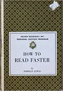how to read better and faster by norman lewis epub