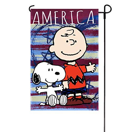 PATRIOTIC PEANUTS AMERICA GARDEN FLAG 12