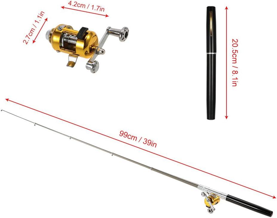 in Stiftform K/öder Jig Haken Weich Float Tackle Anself 1/m Mini Tragbares Angelrute-Taschenlampe aus Aluminiumlegierung
