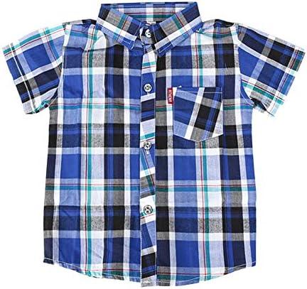半袖 シャツ キッズ 男の子 チェックシャツ 折襟 お出かけ 贈物 夏 ...