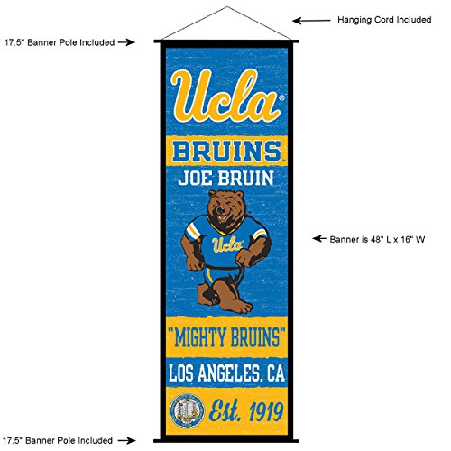 UCLA Bruins Banner and Scroll Sign