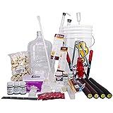 North Mountain Supply, kit completo de 32 piezas de vino de frutas de 3 galones con vidrio Carboy, solo requiere frutas y botellas