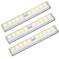 Closet Motion Sensor Light 10 LED Wireless Night light, Portable Magnetic Security Lighting for Bathroom Hallway Stair…