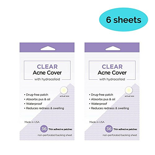 72 Count - Clear Acne Cover with Hydrocolloid (Pimple Absorbing Patch/Sticker)