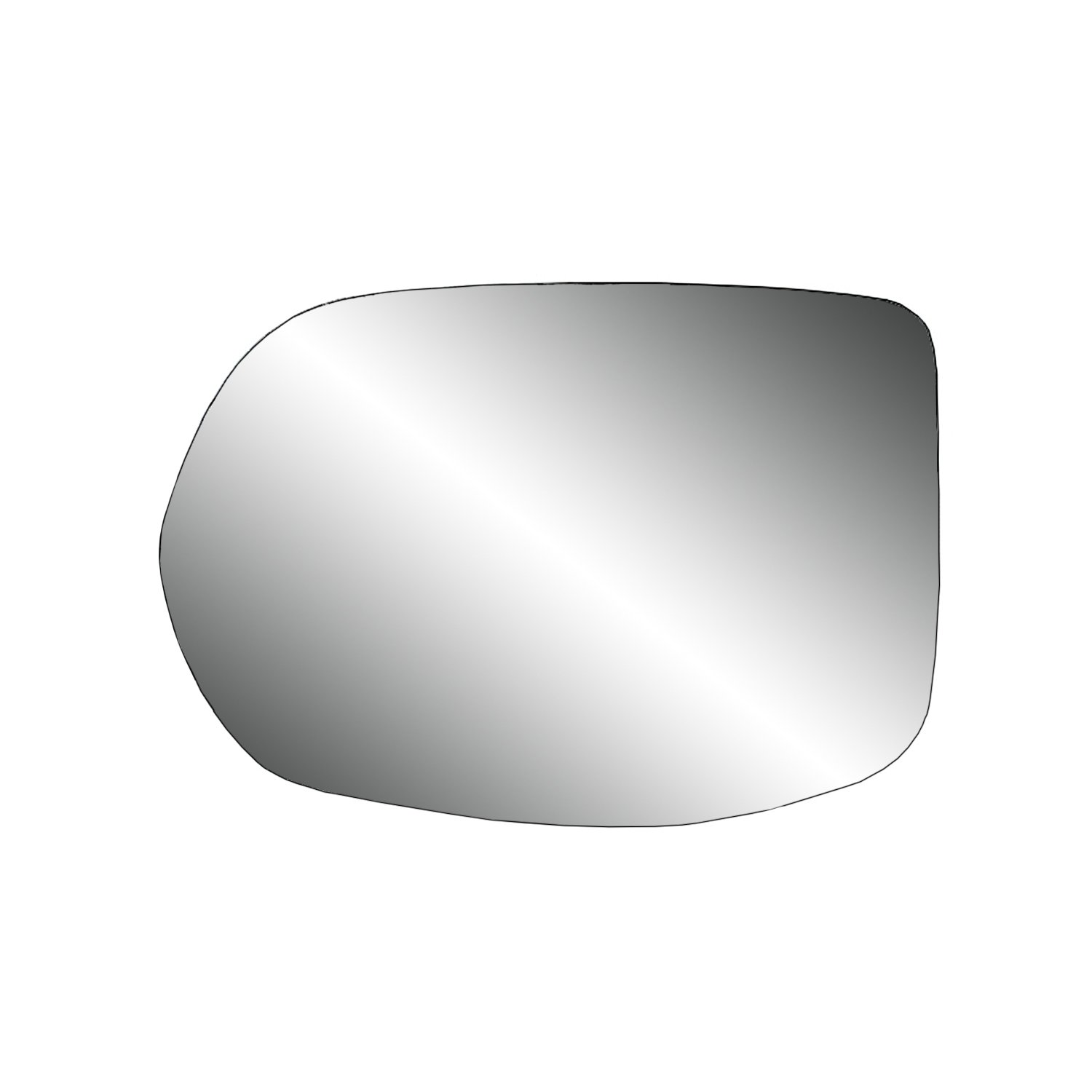 Fit System 80268 Honda CR-V EX/LX Right Side Power Replacement Mirror Glass with Backing Plate