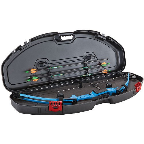 (Plano Genesis Edition Ultra Compact Bow Case, Black/Red)