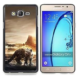 - Snow Leopard - - Cubierta del caso de impacto con el patr??n Art Designs FOR Samsung Galaxy On7 G6000 Queen Pattern