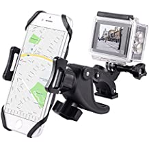YELIN Bike Phone Mount Motorcycle Phone Holder Bike Camera Mount 2 in 1 Bicycle Handlebar Clamp for Gopro and Any Action Cam iPhone 8 7 7s 6s Samsung Phone