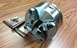 """8"""" 4-Jaw Self-Centering Lathe Chuck top&Bottom Jaws w. L00 Adapter Plate-New"""