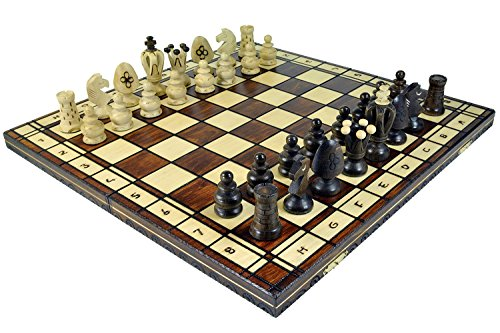 Wegiel Royal 48 European Wooden Handmade International Chess Set ()
