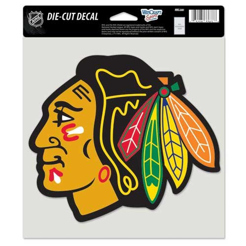 WinCraft NHL Chicago Blackhawks Die-Cut Color Decal, 8