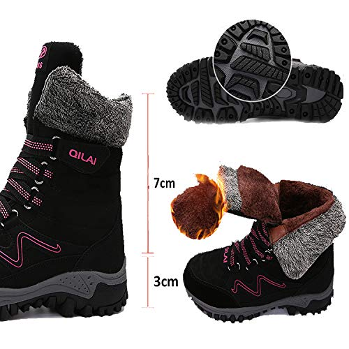 De Boots Bottines Imperméable Gris Baskets Neige Fourrure Chaudes 0ABx5U