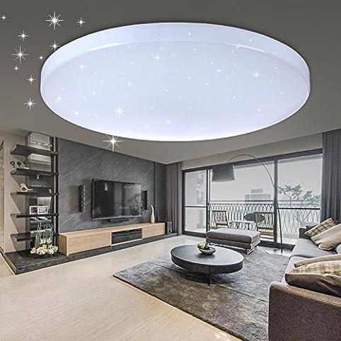 vingo® 60w led deckenleuchte wohnzimmerlampe kaltweiß rund ... - Moderne Wohnzimmerlampe