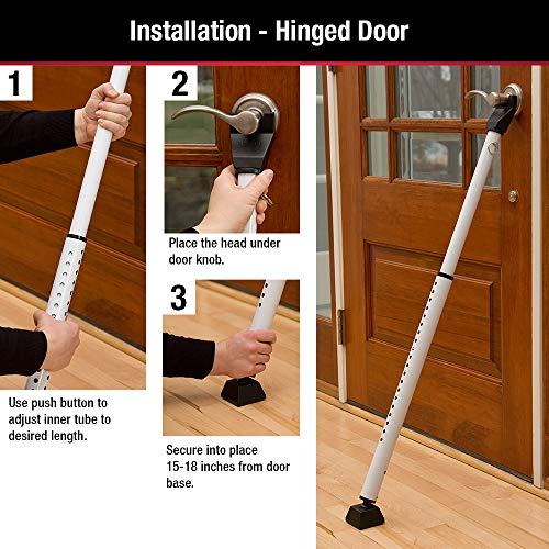 Image of Master Lock 265D Door Security Bar, Pack of 1, White