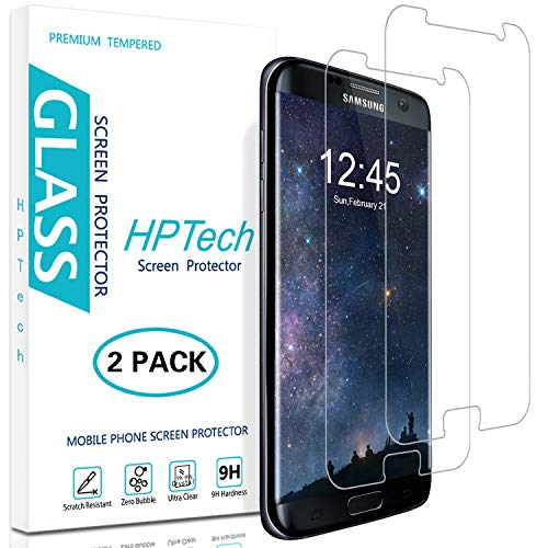 HPTech Galaxy S7 Screen Protector - (2-Pack) [Japan Tempered Glass] For Samsung Galaxy S7 Screen Protector Easy to Install with Lifetime Replacement Warranty