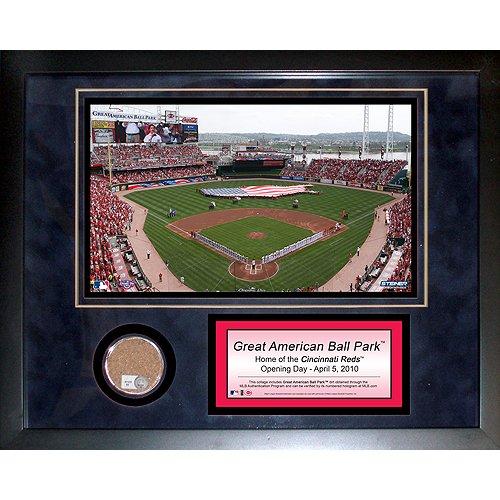 Cincinnati Reds Great American Ballpark - Steiner Sports MLB Cincinnati Reds Great American Ballpark 11 x 14-inch Mini Dirt Collage