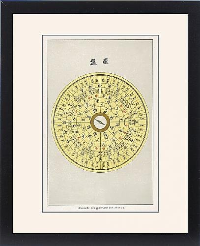 Framed Print Of Geomancy Compass by Prints Prints Prints