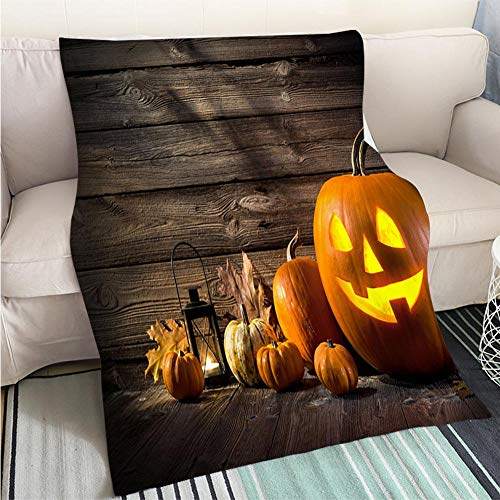 BEICICI Creative Flannel Printed Blanket for Warm Bedroom Halloween Pumpkins Sofa Bed or Bed 3D Printing Cool Quilt]()
