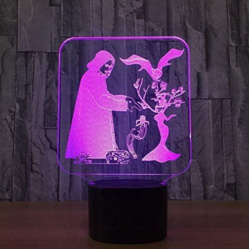 Veilleuse Acrylique Magicien 3D Lampe Intérieur Bluetooth