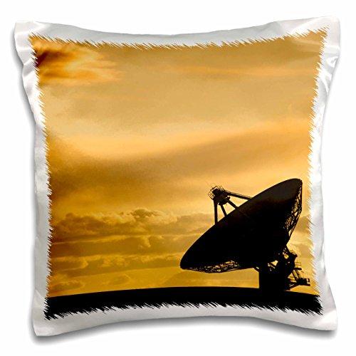 nt - Astromony - Yellow sunset over a Radio telescope, Socorro, New Mexico, USA - 16x16 inch Pillow Case (pc_259758_1) (Socorro Throw)