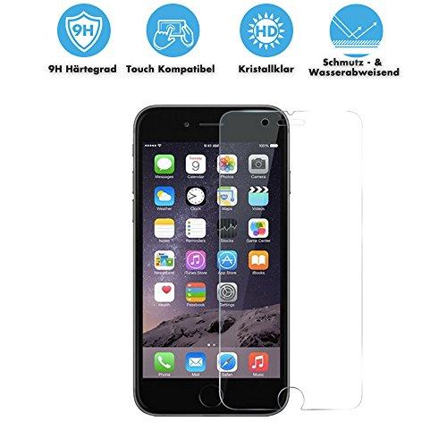 THS5STAR Panzerglas 9H Tempered Glass - iPhone 6 Plus 6S Plus 6+ (5,5 Zoll) - Schutzfolie Hartglas Panzerglasfolie Handy Displayschutz Glasfolie Schutzglas Hartglasfolie Displayschutzfolie Smartphone (bewusst kleiner als das Display, da dies gewölbt ist)