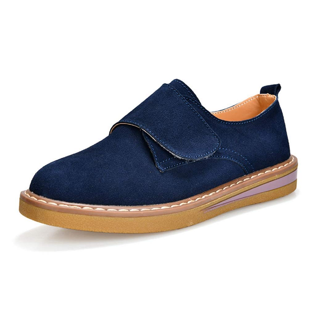 Dark bluee Elsa Wilcox Women Classic Handsewn Suede Leather Driving Moccasins Penny Loafers Casual Slip On Fashion Boat shoes Flat Heel Loafers