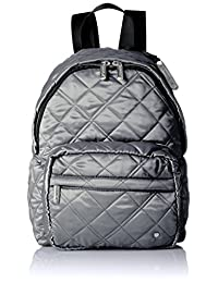 LeSportsac Women's City Piccadilly Backpack, Metallic Slate Quilted