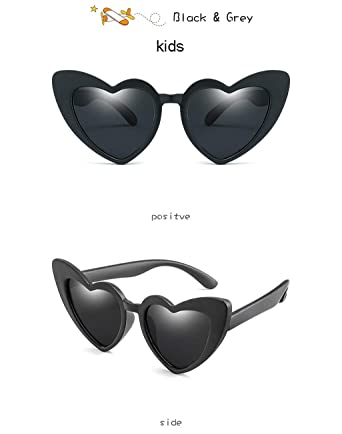 Amazon.com: Heart Shape Parent-child Sunglasses Women Kids ...