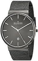 Skagen Men's Ancher Quartz Stainless Steel Mesh Casual Watch, Color: Grey (Model: SKW6108)