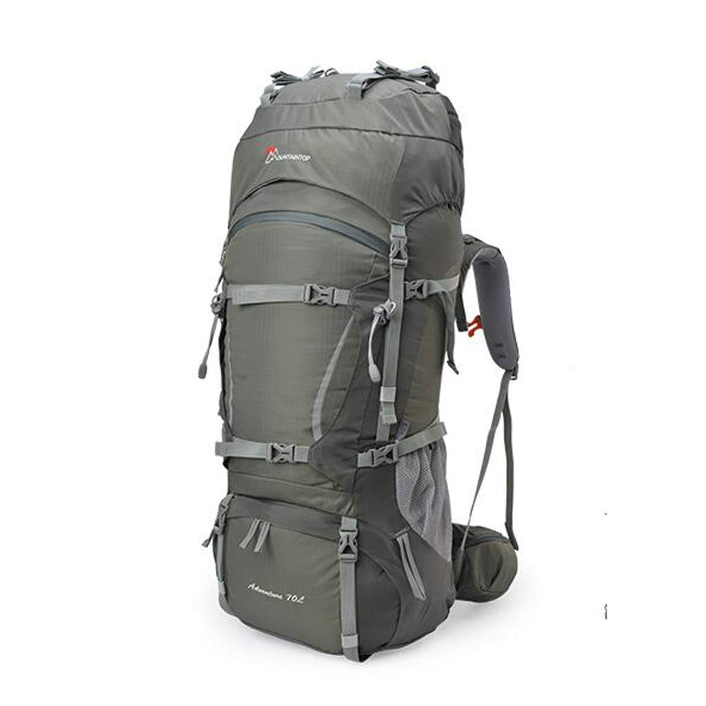 JSSFQK アウトドア 登山バッグ ショルダー 男女兼用 60L70L キャンプ ハイキング バックパック 超軽量 大容量 アウトドア バックパック 85cm×30cm×35cm グレー 920816 B07MQQ2Z5X グレー 85cm×30cm×35cm