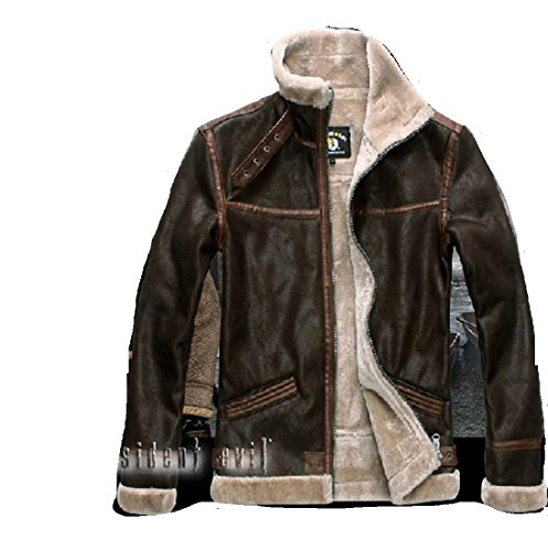 Costumes Evil Resident 1 (RESIDENT EVIL 4 LEON KENNEDY'S PU leather Faux fur Jackets Costume)