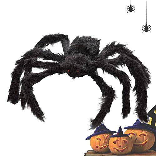Party DIY Decorations - Wholesale 300mm Simulation Black Spider Funny Halloween Decoration Haunted House Prop Indoor Outdoor - Navy Spider Arrival Decor Lily Halloween Decor Giganta Spider