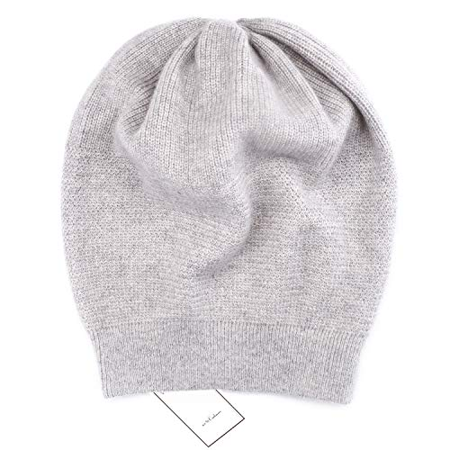 - WaySoft Pure 100% Cashmere Beanie for Women in a Gift Box, Oversized Women Beanie Hat, Bring Warm and Luxury to Your Loved Ones, Perfect (Grey)