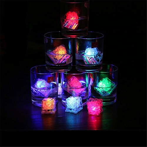 12 Pcs Novelty LED Glow Ice Cubes Color