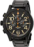 Nixon Men's '48-20 Chrono' Quartz Metal and Stainless Steel Watch, Color:Black (Model: A4861032-00)