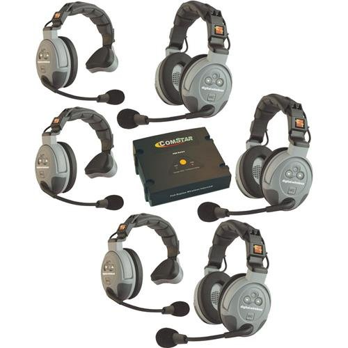 Eartec COMSTAR XT Full Duplex Wireless Intercom System with All-in-One Headsets (6 Person) ()