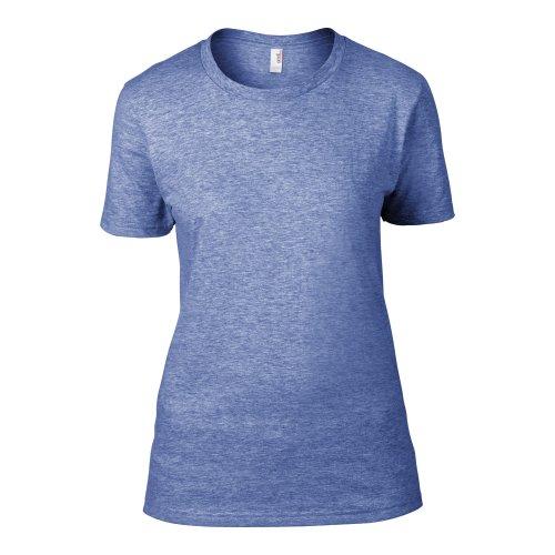 Anvil- Camiseta Fashion semi ajustada de manga corta para chica/mujer Gris oscuro