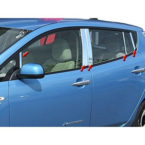 10pc. Luxury FX Stainless Steel Pillar Post Trim for 2011-2016 Nissan Leaf UpgradeYourAuto